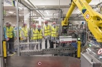 Young dairy farmers toured Nestlé's Dalston factory